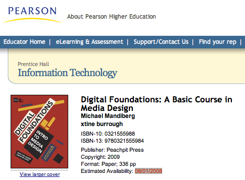 Digital Foundations first sighting
